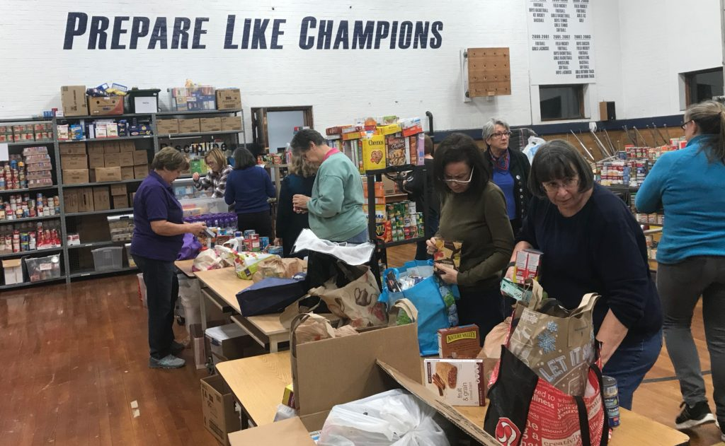 Sorting food for End 68 Hours of Hunger