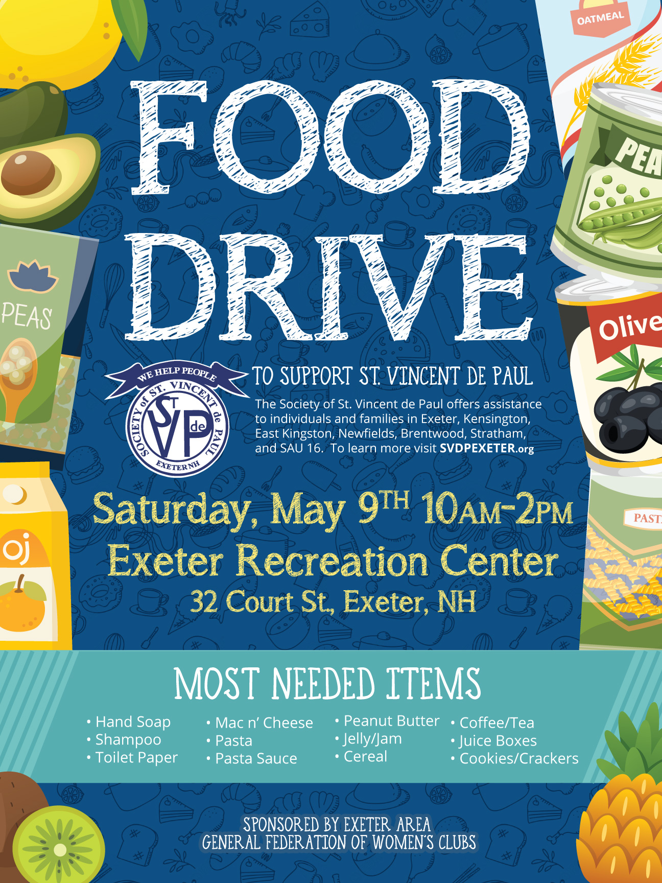 Womens-Club-Food-Drive